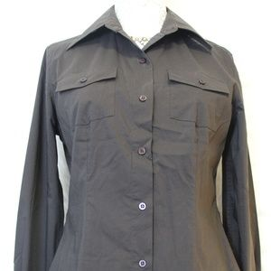 Brown Strength Button Down Shirt.